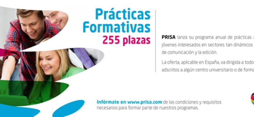 255 plazas de prácticas en las distintas empresas del Grupo Prisa.