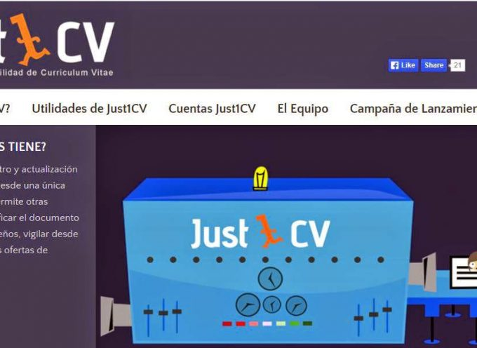 "Plataforma ""just1cv"" de movilidad de curriculums vitaes."