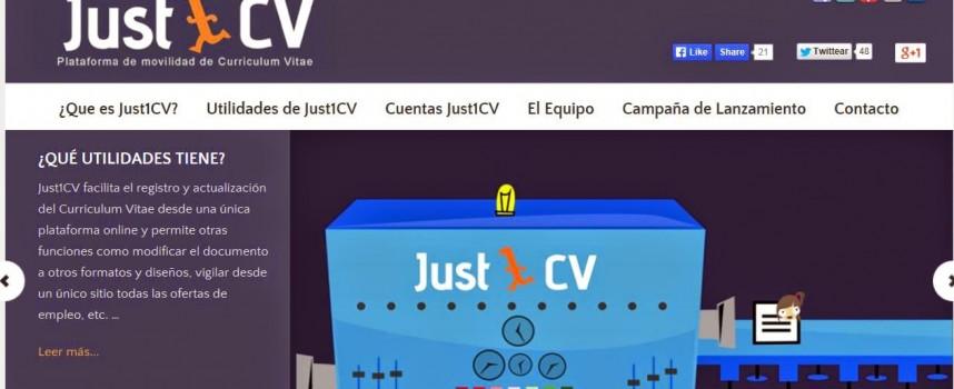 """Plataforma """"just1cv"""" de movilidad de curriculums vitaes."""