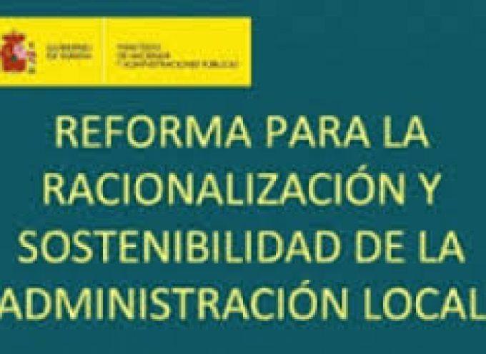CIRCULAR sobre el nuevo régimen competencial contemplado en la Ley 27/2013 – Administración Local