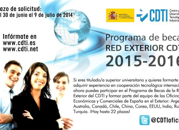 NUEVA! Convocatoria 2015-2016 Programa @CDTIoficial Becas Oficinas Internacionales para jóvenes titulados universitarios