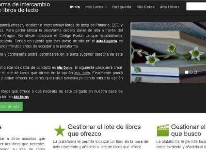 La plataforma de intercambio de libros de texto del Gobierno de Aragón, a disposición de las familias