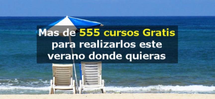 Más de 555 cursos gratis y online para realizar este verano