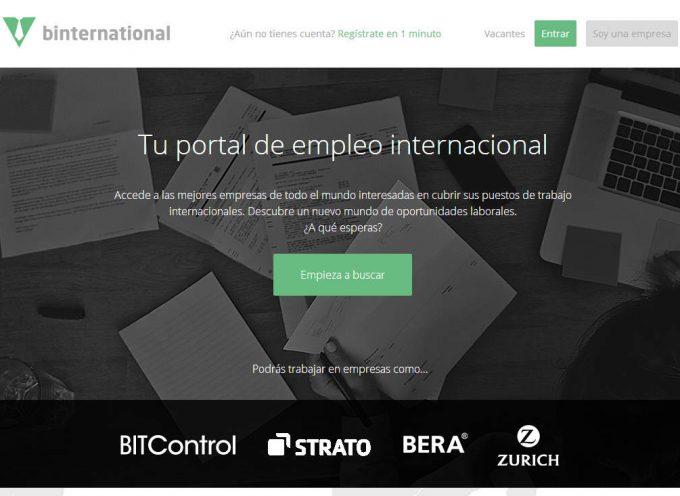 Binternational pone en marcha una nueva web de empleo internacional