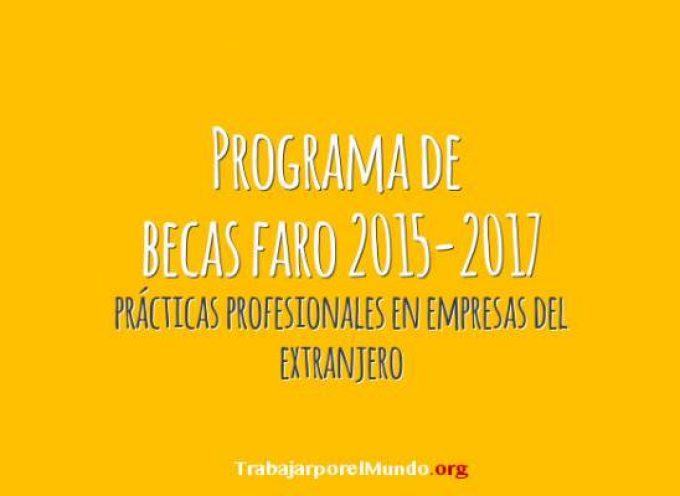 Programa de Becas FARO 2015-2017 (hasta el 1 de octubre)