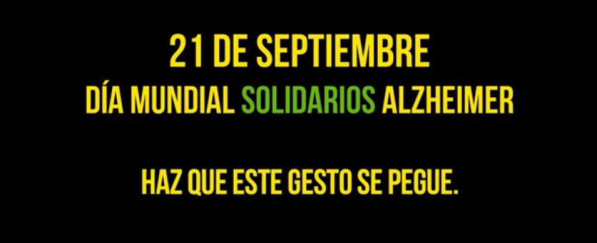 21 septiembre, Día Mundia Solidarios Alzheimer: Haz que este gesto se pegue