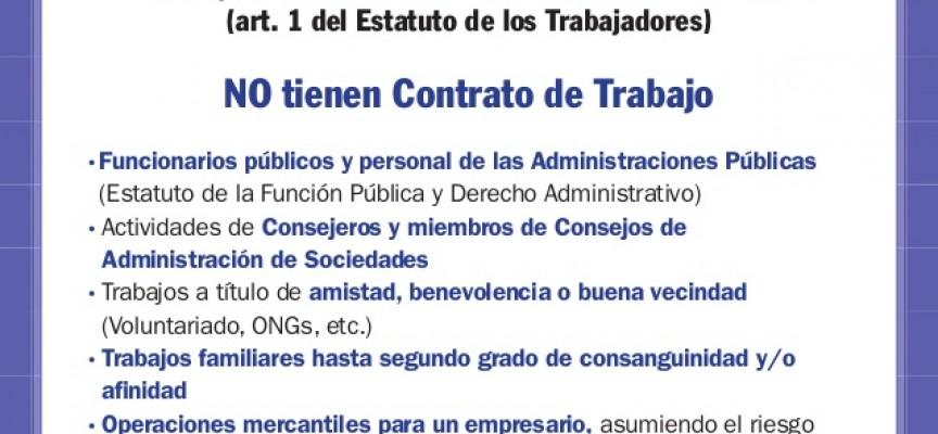 Trabajos excluidos de la Legislación Laboral. Conceptos Básicos.