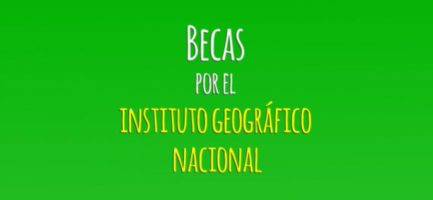 Convocatoria de becas para la formación en el Instituto Geográfico Nacional