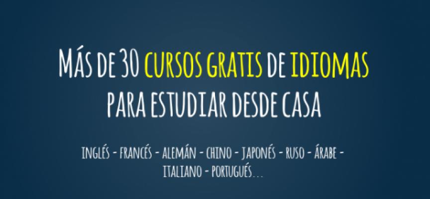 Más de 30 Cursos Gratis para estudiar Idiomas desde casa