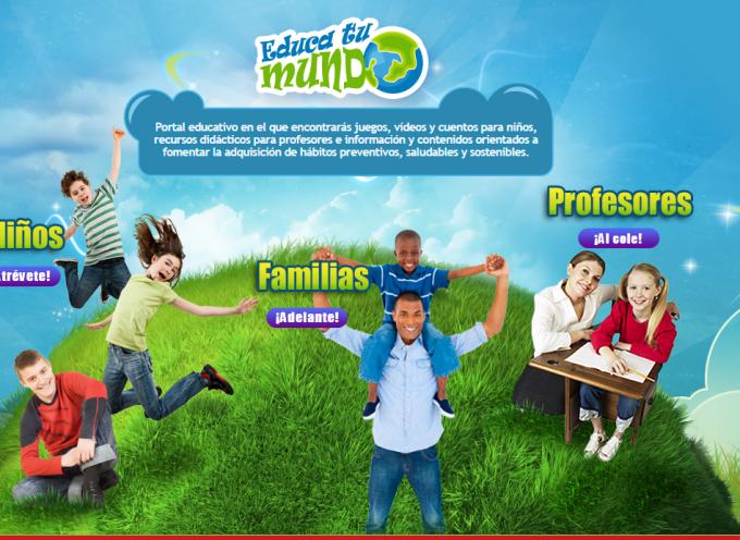 """""""EDUCA TU MUNDO"""". Portal educativo que pretende fomentar la adquisición de hábitos saludables y preventivos"""