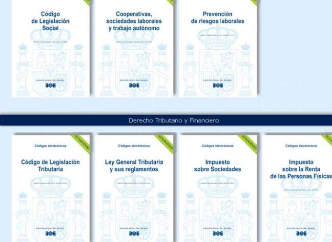 70 Códigos de Legislación actualizados y gratuitos