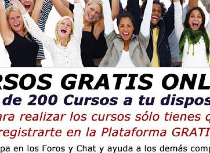 Plataforma con más de 200 cursos online gratis de todos los sectores.