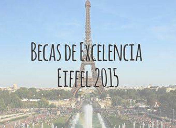 Programa de Becas de excelencia Eiffel 2015. Hasta el 9 de enero.
