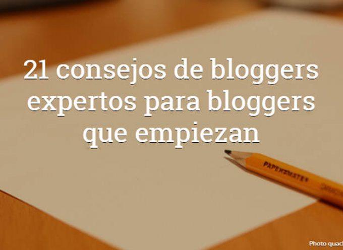 Los consejos de 21 bloggers expertos para tener un gran blog