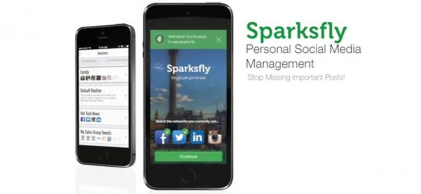 Sparksfly. App para conectar tus redes en un solo feed inteligente.