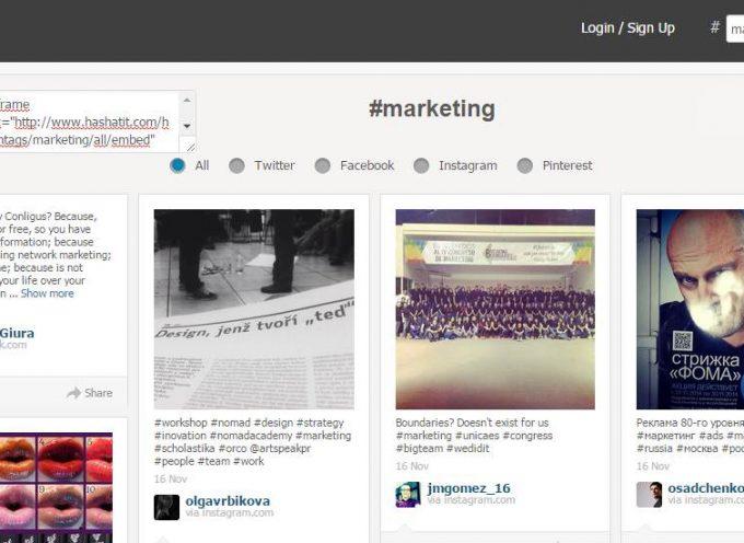 ¿Quieres encontrar contenido en Twitter, Facebook , Instagram y Pinterest  con un sólo clic y etiqueta?