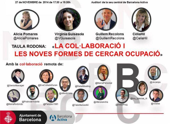 """Mesa Redonda """"La colaboración y las nuevas maneras de buscar empleo"""""""