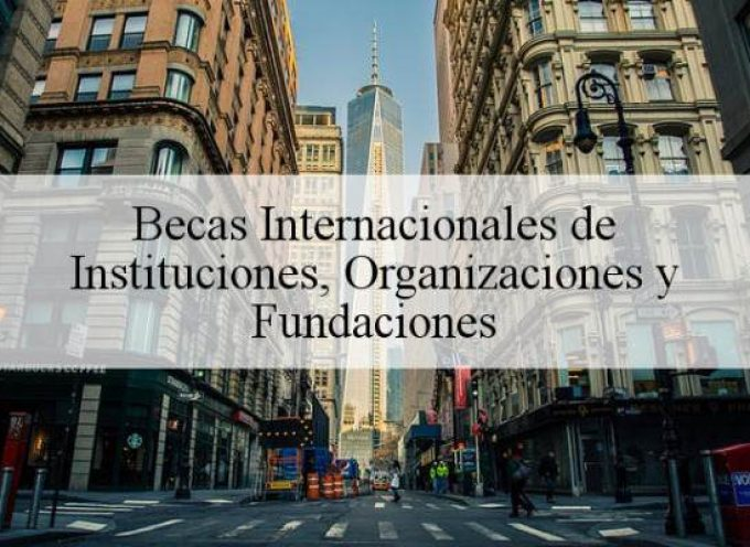 Becas Internacionales de Instituciones, Organizaciones y Fundaciones