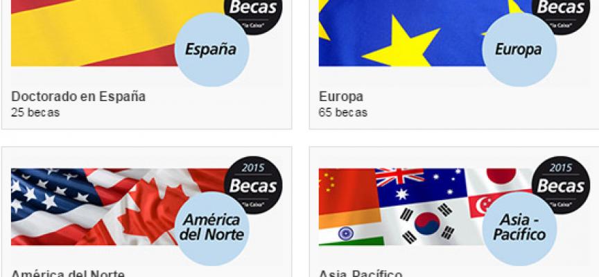"""La Obra Social """"la Caixa"""" convoca 145 becas para estudiar en España, Europa, América del Norte y la zona Asia-Pacífico."""