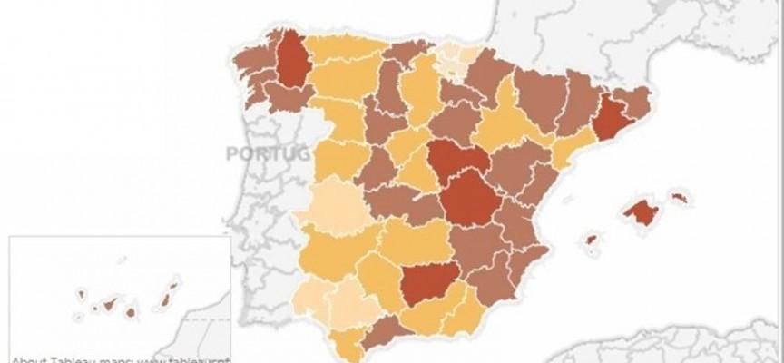 ¿En qué partes de España han mejorado más los datos del paro en los dos últimos años?