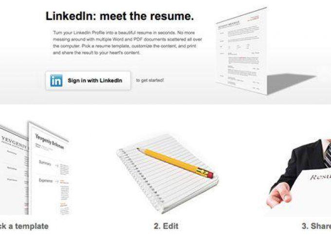 Cómo crear un Currículum Vítae con tus datos de LinkedIn