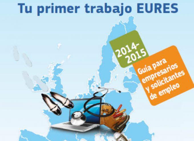 """Guía 2014-2015 """"Tu primer trabajo Eures"""". Descarga gratuita."""