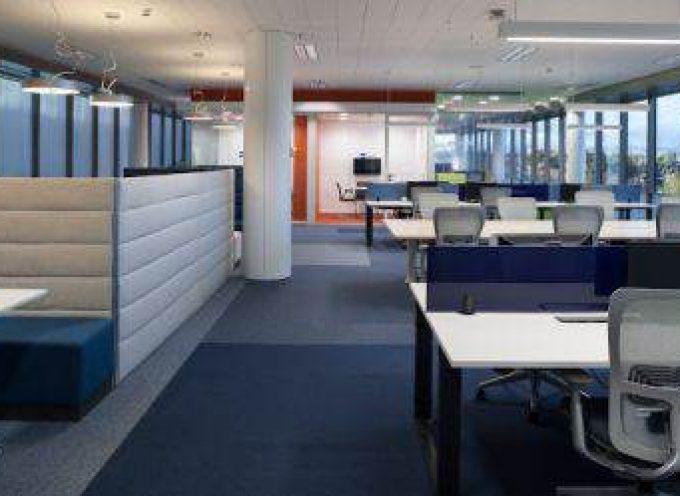 Oficinas sin despachos ni papeles