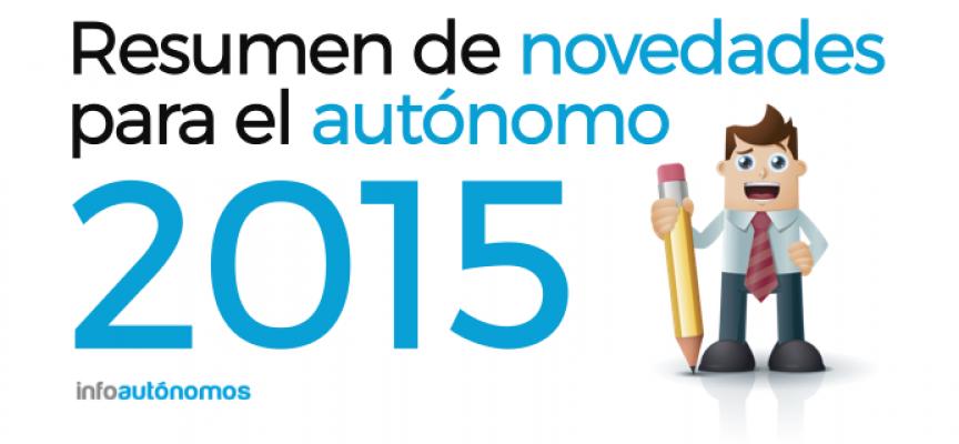 Resumen de novedades para el autónomo en 2015