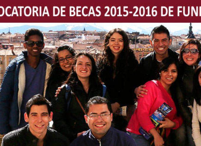 15ª Edición Becas Fundación Carolina 2015-2016 – Varios plazos