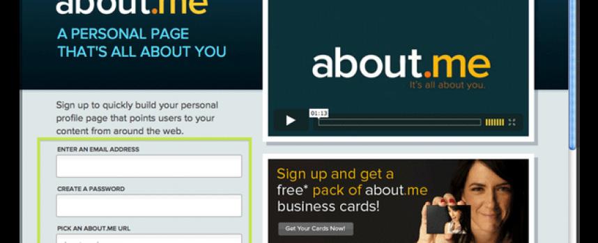 About.me: cómo hacer tu currículum online