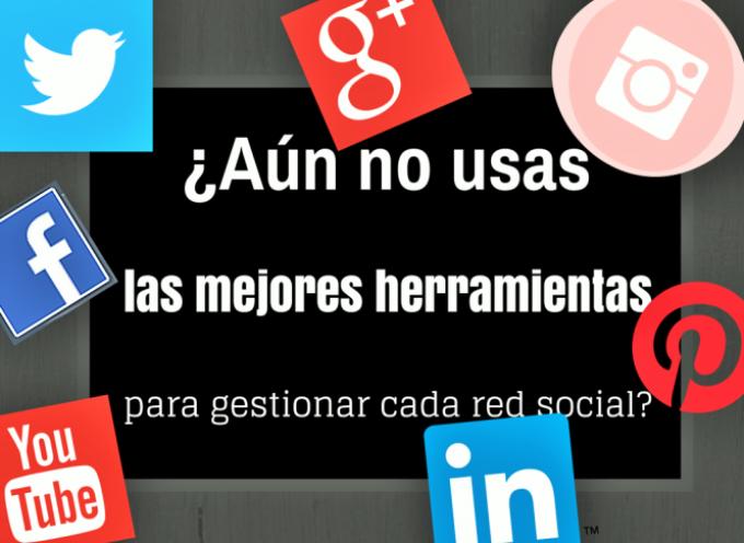 ¿Aún no usas las mejores herramientas para gestionar cada red social?