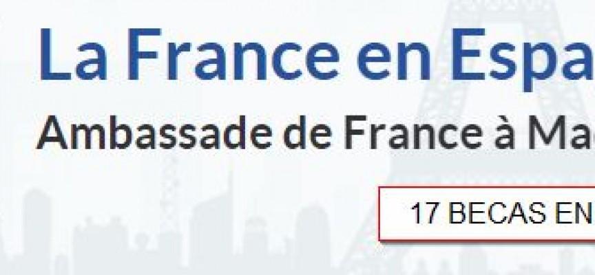 17 Becas para estudiar y realizar prácticas en empresas francesas. Plazo 1 de marzo