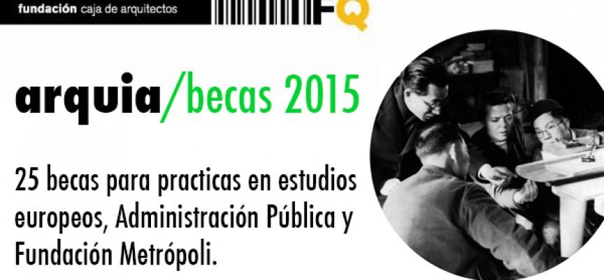 30 Becas para realización de prácticas en los estudios de Arquitectura. Plazo: 30/04/2015