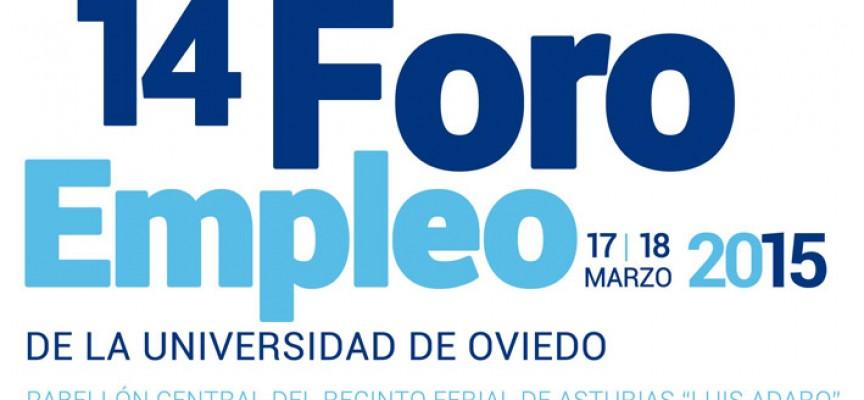 XIV Foro de Empleo de la Universidad de Oviedo. 17 y 18 de marzo. Preinscripción 28 febrero
