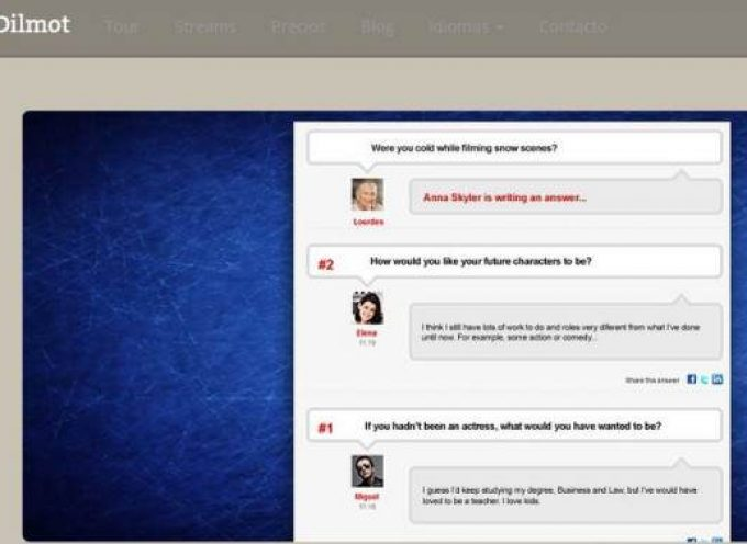 Dilmot, una solución para hacer entrevistas por Internet