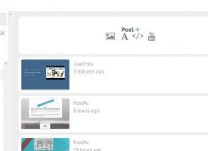 Post.as, una aplicación para hacer montajes con textos, fotos y vídeos