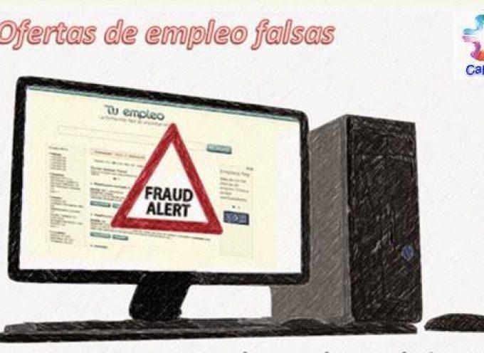 Ofertas de empleo falsas por email
