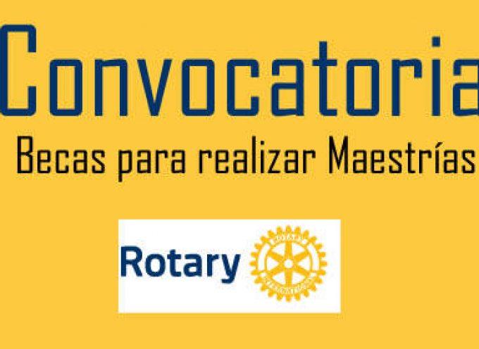 Becas Rotary para estudiar en uno de sus Centros pro Paz. Hasta el 1 de Julio
