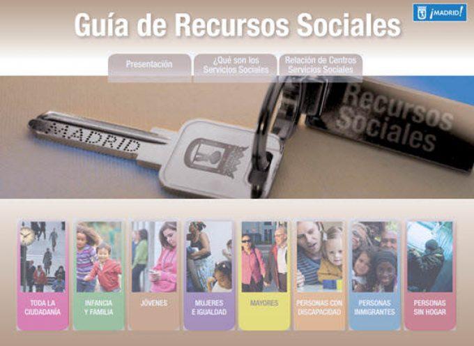 Nueva Guía de Recursos Sociales del Ayuntamiento de Madrid.