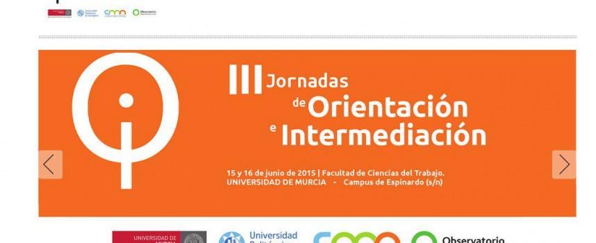 III Jornadas de Orientación e Intermediación Laboral. Murcia 15 y 16 de junio