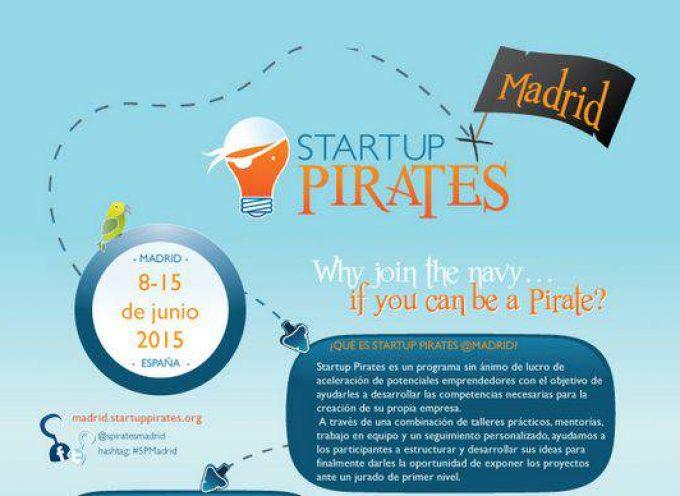 Startup Pirates llega a Madrid. Del 8 al 15 de mayo.