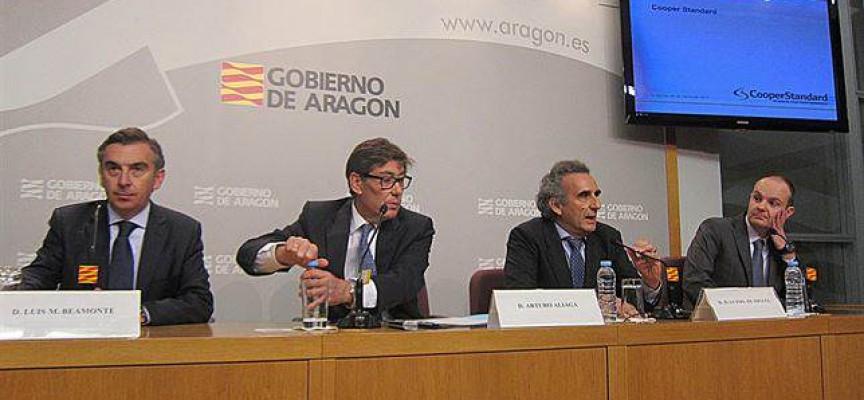 500 empleos en el nuevo centro productivo de Cooper Standard en Aragón.
