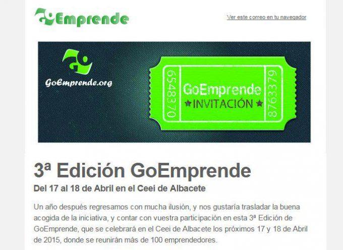 3ª Edición GoEmprende – Albacete 17 y 18 de abril