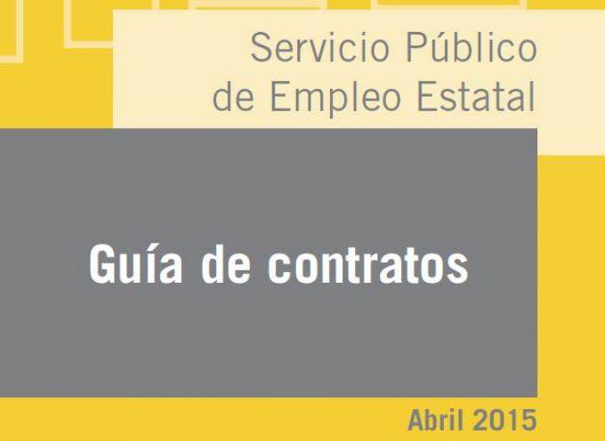 """Actualizada a 8 de abril la """"Guía de Contratos y de Bonificaciones/Reducciones 2015″"""