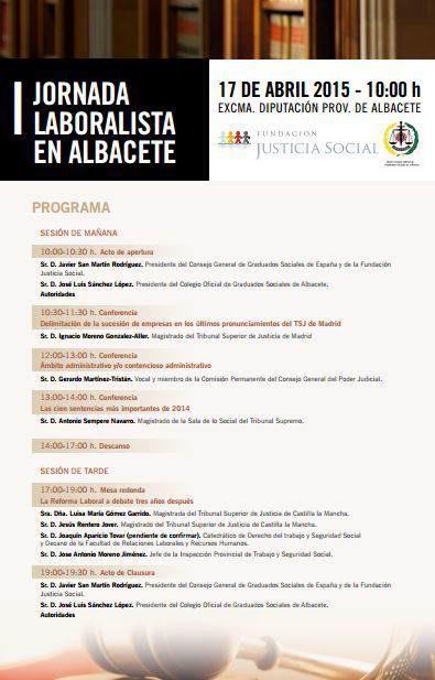 i jornada laboralista albacete