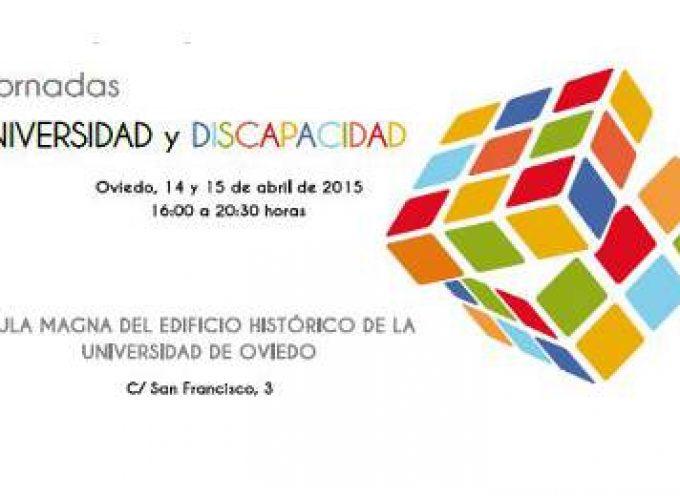 """Jornadas """"Universidad y discapacidad"""" – 14 y 15 de abril – Oviedo"""