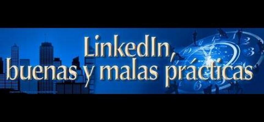 Malas prácticas en el uso de Linkedin. Infografía