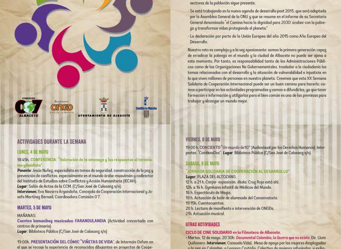 XX Semana Solidaria de Cooperación al Desarrollo – Albacete