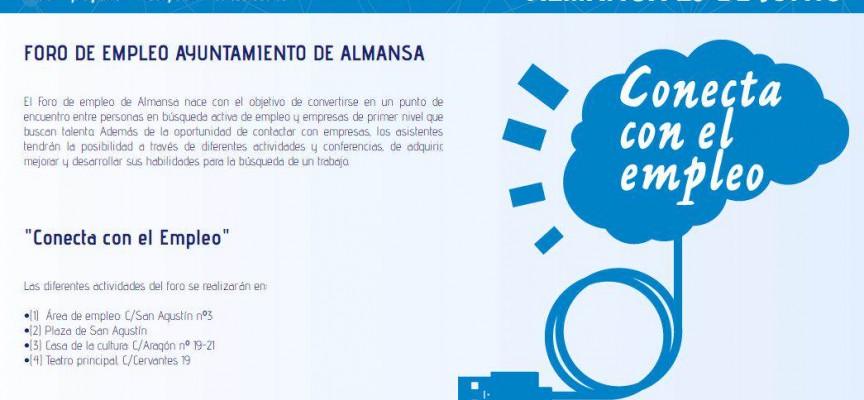 Foro de Empleo Ayto. de Almansa. «Conecta con el Empleo». Jueves 25 de junio de 2015. #ForoEmpleoAlmansa