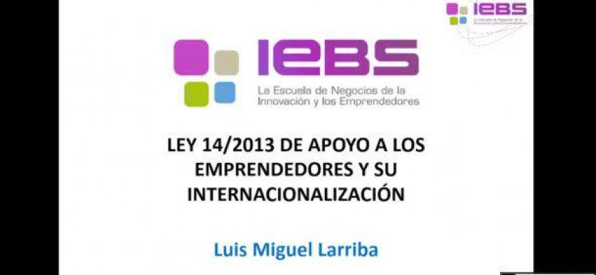 La Ley de Emprendedores y su internacionalización. Recurso en Webinar.